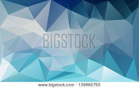 Blue White Polygonal Mosaic Background, Vector illustration, Creative Business