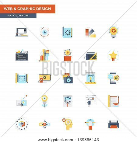 Modern flat design icons for Web and Graphic design. Icons for web and app design easy to use and highly customizable. Vector