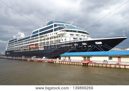 SAINT PETERSBURG, RUSSIA - JUNE 18, 2016: A five-star cruise ship
