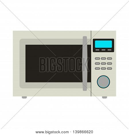 Vector illustration of microwave icon. Isolated on white background.