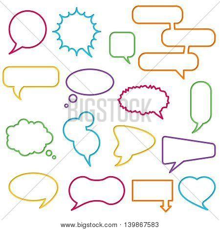 Blank empty speech bubbles for infographics vector illustration