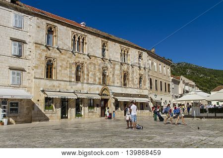Stari Grad At Hvar Island, Croatia