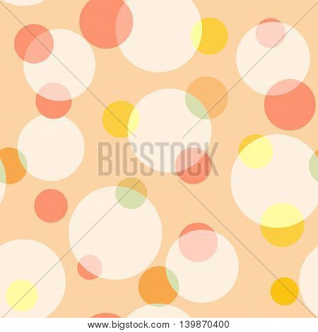 Circle polka dot pastel seamless pattern. Fashion graphic background design. Modern stylish abstract texture. Colorful template for prints textiles wrapping wallpaper website. VECTOR illustration