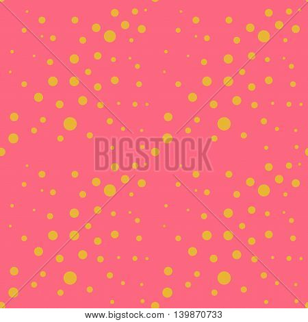 Circle chaotic seamless pattern. Fashion graphic background design. Modern stylish abstract colorful texture. Template for prints textiles wrapping wallpaper website etc. VECTOR illustration