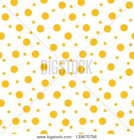 Circle yellow seamless pattern. Fashion graphic background design. Modern stylish abstract colorful texture. Template for prints textiles wrapping wallpaper website etc. VECTOR illustration