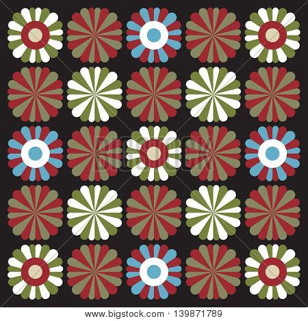 floral pattern, vector background
