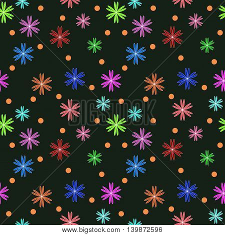 Flower color seamless pattern. Fashion graphic background design. Modern stylish abstract texture. Colorful template for prints textiles wrapping wallpaper website etc. VECTOR illustration
