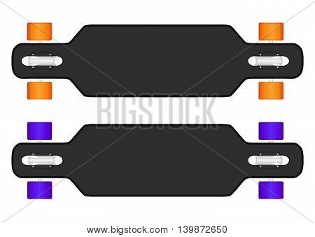 The composition of longboard. eps10 vector illustration