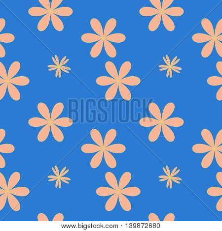 Flower pastel seamless pattern. Fashion graphic background design. Modern stylish abstract texture. Colorful template for prints textiles wrapping wallpaper website etc. VECTOR illustration