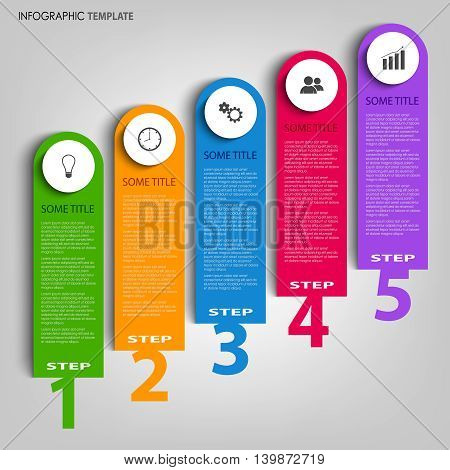 Info graphic with design stripes and pointers template vector eps 10
