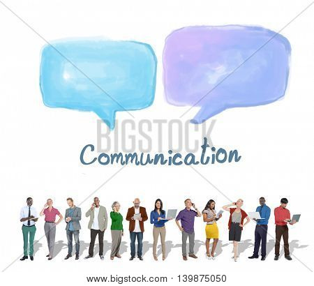 Speech Bubble Communication Conversation Technology Concept