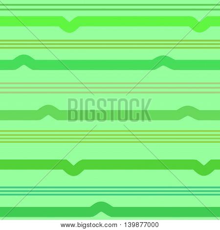 Wavy line green seamless pattern. Fashion graphic background design. Modern stylish abstract texture. Colorful template for prints textiles wrapping wallpaper website etc. VECTOR illustration