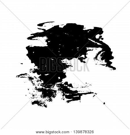 Abstract template for background consisting of a black watercolor stains on white background.