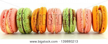Strawberry, Choc-mint And Caramel Macarons Banner