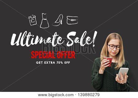 Sales Promotion Discount Shopaholics Shopping Concept