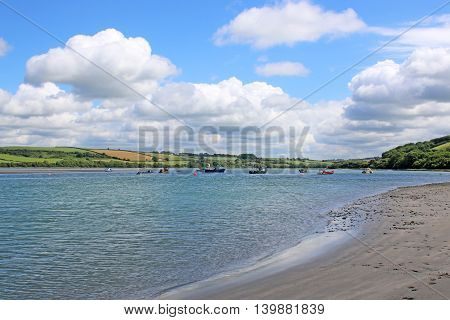 River Teifi estuary at Poppit Sands in Wales