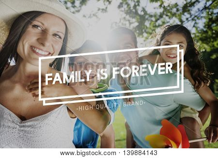 Family Home Parents Children Happy Concept