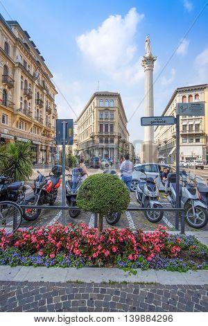 PADOVA, ITALY - JULY, 9, 2016: street in a Padova, Italy
