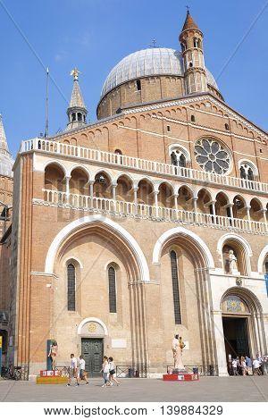 PADUA, ITALY - July, 9, 2016: Basilica of Saint Anthony in Padua, Italy