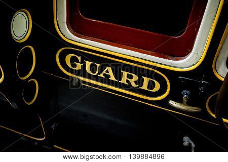 The guard van of an old train carriage
