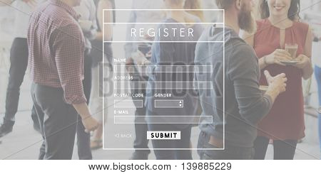 Register Registration Sign up Login concpet
