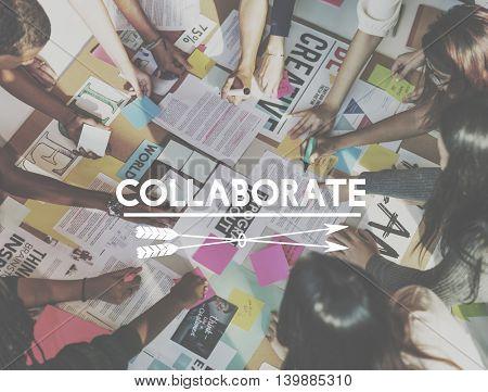 Collaborate Teamwork Togetherness Leadership Group Concept