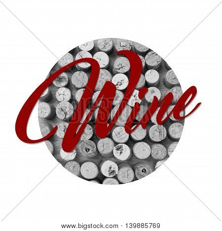 Winery background in black and white with text