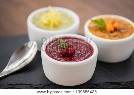 Refreshing lemon cranberry seabuckthorn sorbet