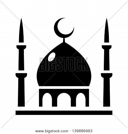 Mosque Icon isolated vector illustration for web