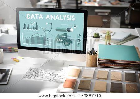 Data Analysis Marketing Business Report Concept