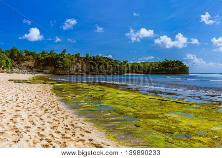 Balangan Beach in Bali Indonesia - nature vacation background