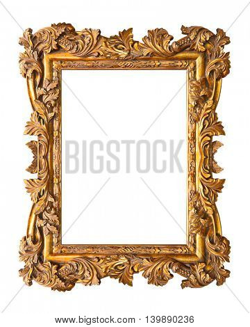 Retro frame isolated on white background
