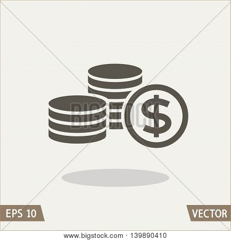 Money flat icon dollar symbol. Vector illustration for web and commercial use.