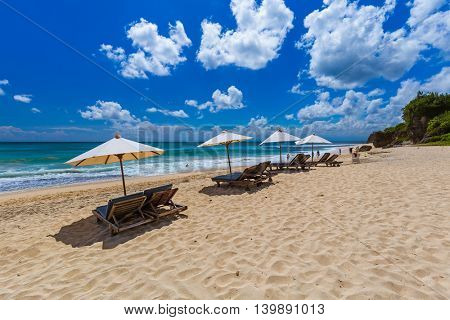Dreamland Beach in Bali Indonesia - nature vacation background