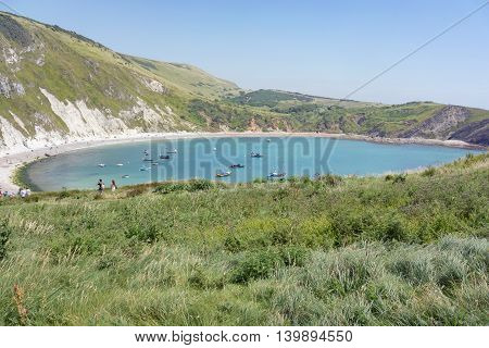 Lulworth Cove on the UK's Jurassic Coast