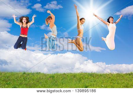 United Success Joyful Celebrating