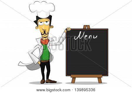 Italian Chef With A Menu