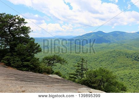 Blue Ridge Mountains in NC, Looking Glass Rock