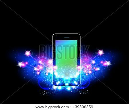 Smartphone mobile phone illustration easy all editable