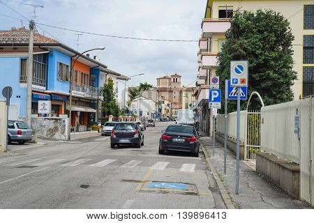 Rovigo, Italy - June, 17, 2016: cars on a street in Rovigo, Italy