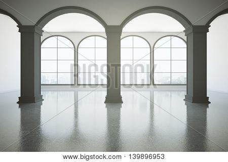 Dark Concrete Interior