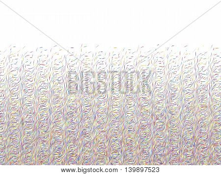 Abstract background, optical illusion of gradient effect. Stipple effect. Rhythmic colorful noise particles. Grain texture