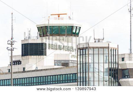 BERLIN, GERMANY - 22 JULY 2016- The main airport in Berlin Tegel TXL, Flughafen Berlin-Tegel.