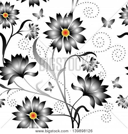 Elegance Seamless color pattern on background, vector illustration