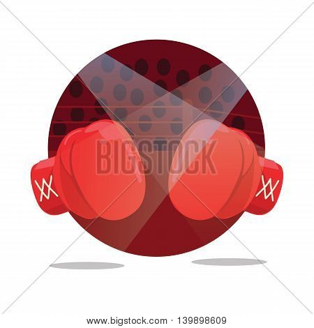 fight boxing gloves flat icon punch vector