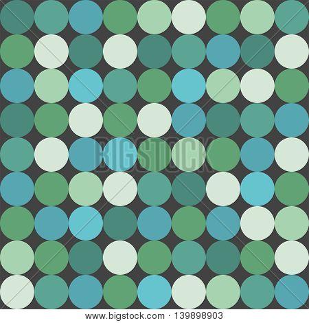 Green big dots tile vector pattern or background