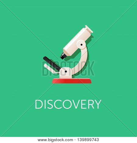 Microscope icon. Scientific Discovery. Modern flat design