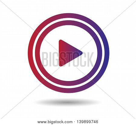 Play Button music icon logo for media