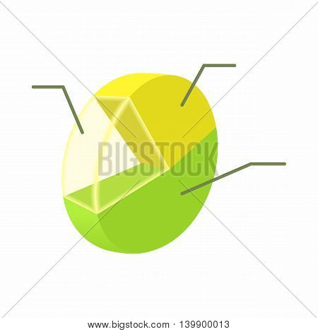 Statistics icon in cartoon style isolated on white background. Information symbol