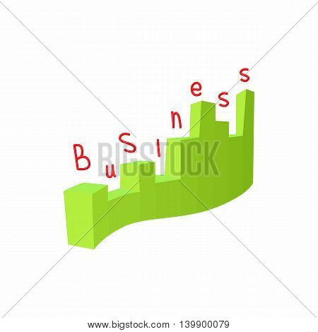Statistics business icon in cartoon style isolated on white background. Information symbol